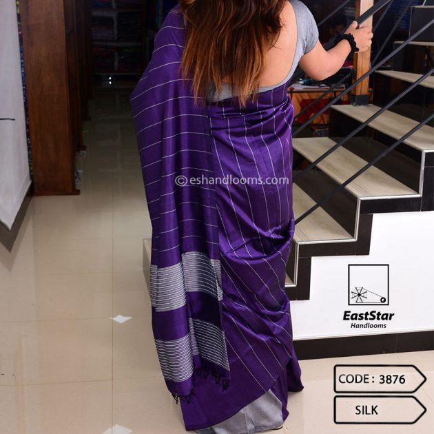 Code #3876 Handloom Silk Saree