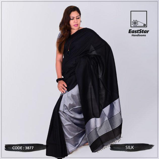 Code #3877 Handloom Silk Saree