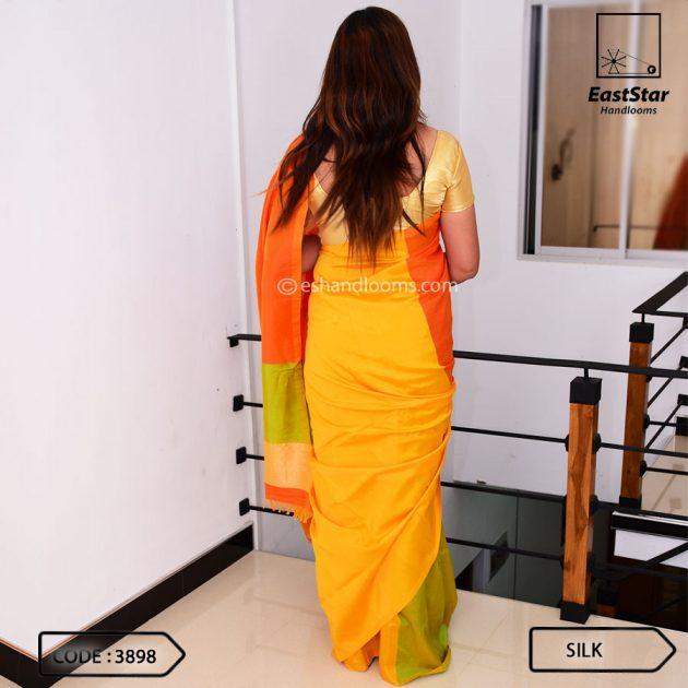 Code #3898 Handloom Silk Saree