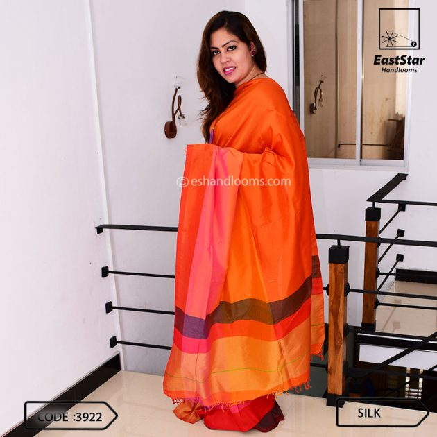 Code #3922 Handloom Silk Saree
