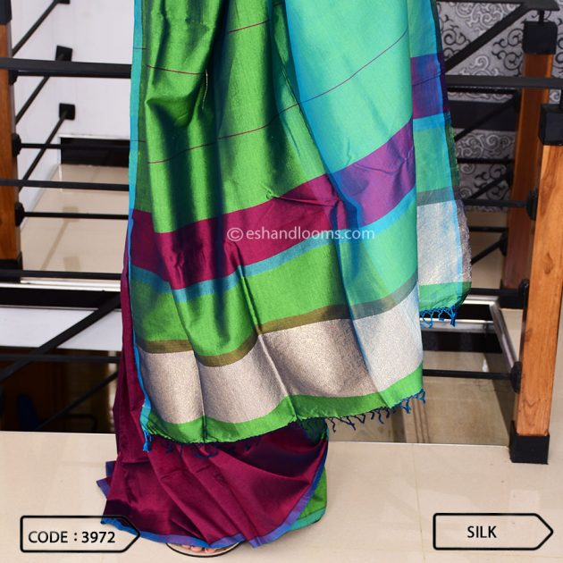 Code #3972 Handloom Silk Saree