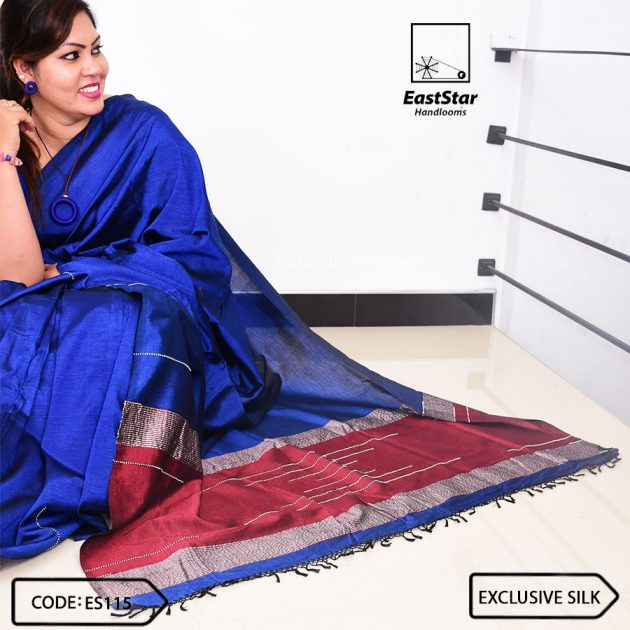 Code #ES115 Handloom Exclusive Silk Saree