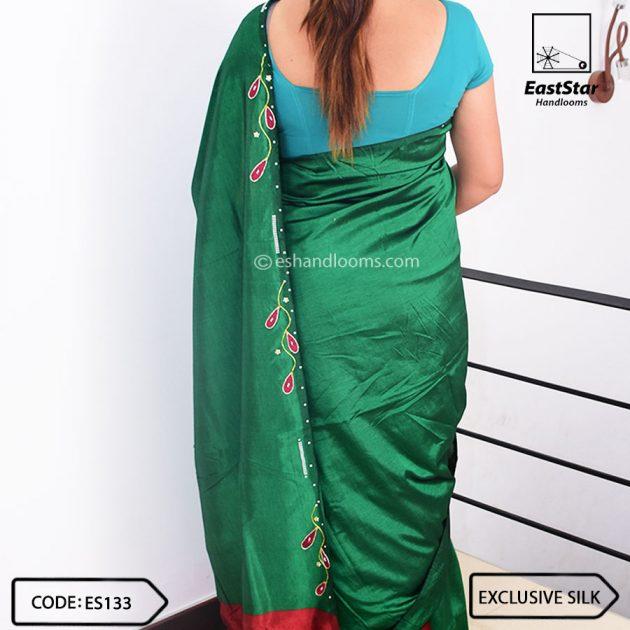 Code #ES133 Handloom Exclusive Silk Saree