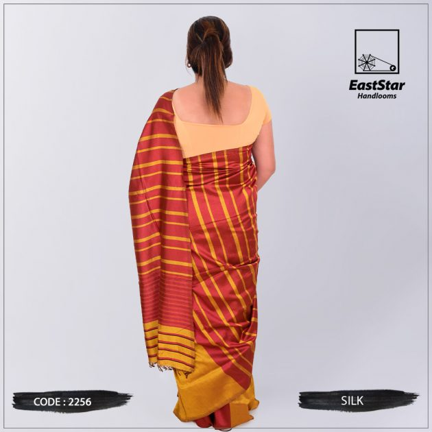 Code #2256 Handloom Silk Saree