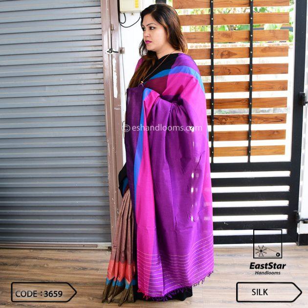 Code #3659 Handloom Silk Saree