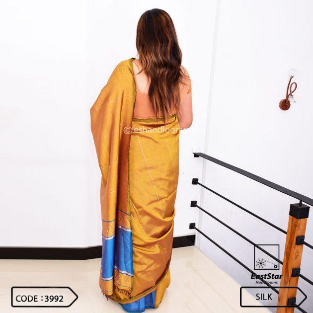 Code #3992 Handloom Silk Saree