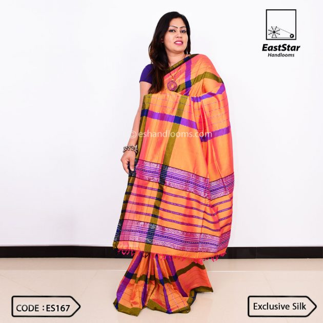 Code #ES167 Handloom Exclusive Silk Saree