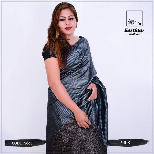 Code #S063 Handloom Silk Saree