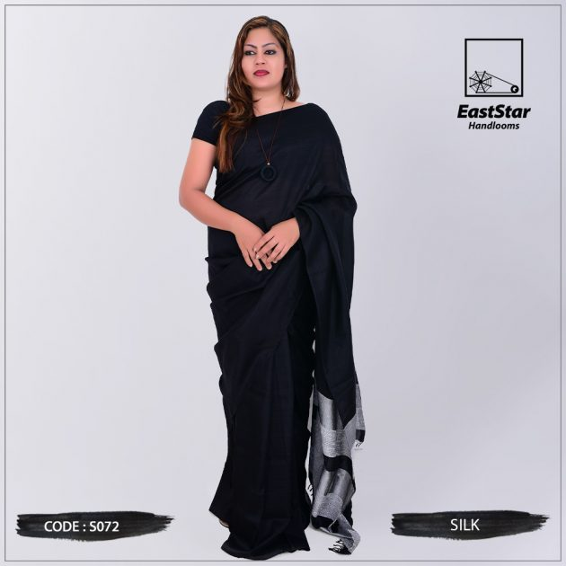 Code #S072 Handloom Silk Saree