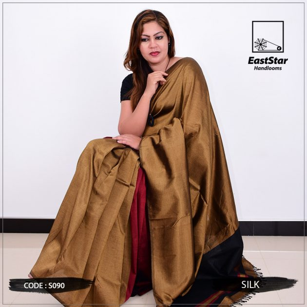 Code #S090 Handloom Silk Saree