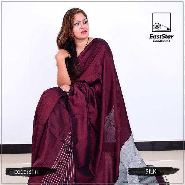 Code #S111 Handloom Silk Saree