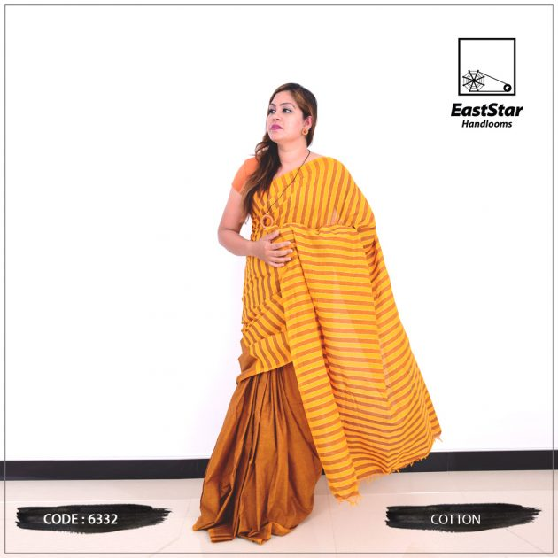 Code #6332 Handloom Cotton Saree