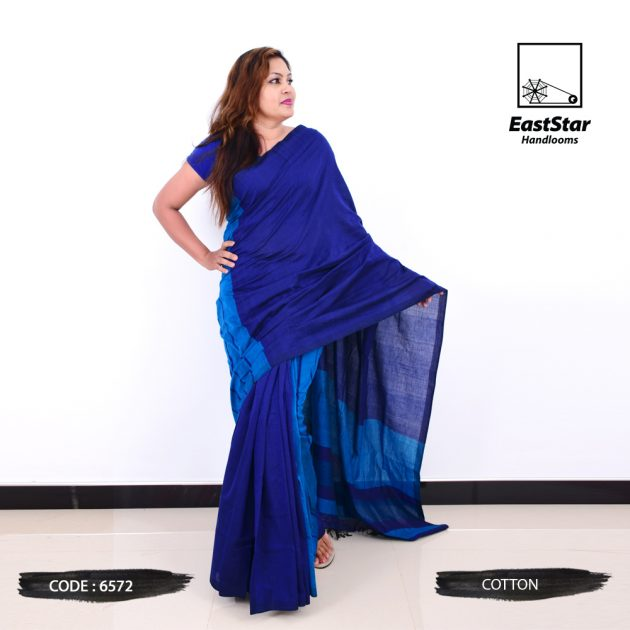 Code #6572 Handloom Cotton Saree