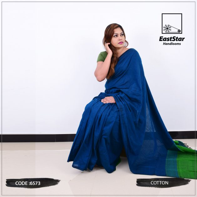 Code #6573 Handloom Cotton Saree