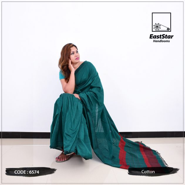 Code #6574 Handloom Cotton Saree