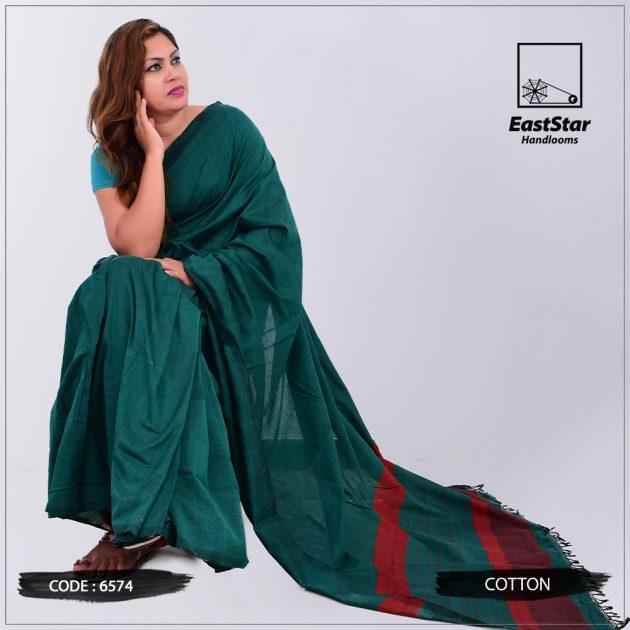 Code #6574 Handloom Cotton Saree