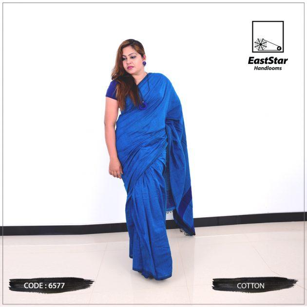 Code #6577 Handloom Cotton Saree