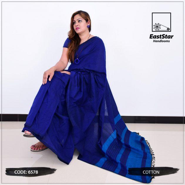 Code #6578 Handloom Cotton Saree