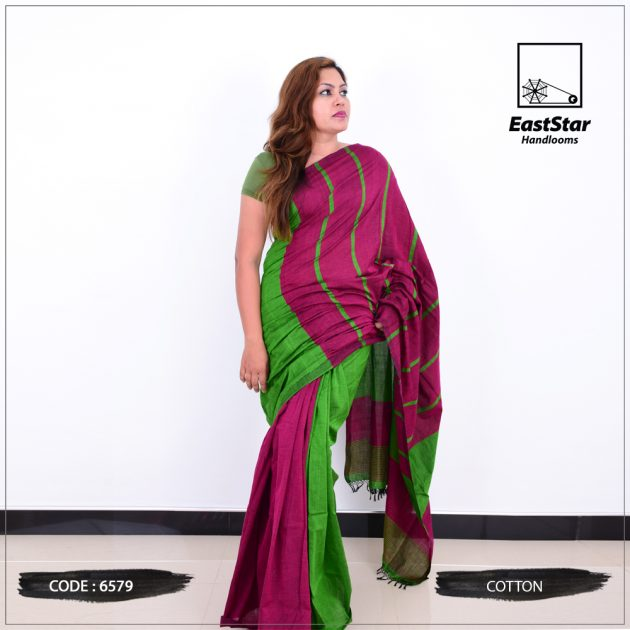 Code #6579 Handloom Cotton Saree