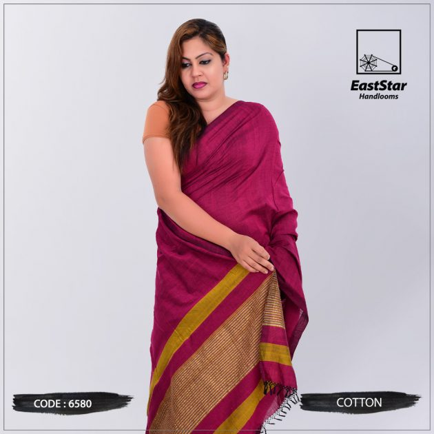 Code #6580 Handloom Cotton Saree