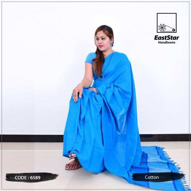 Code #6589 Handloom Cotton Saree