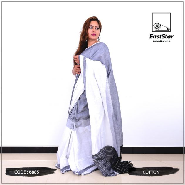 Code #6885Handloom Cotton Saree