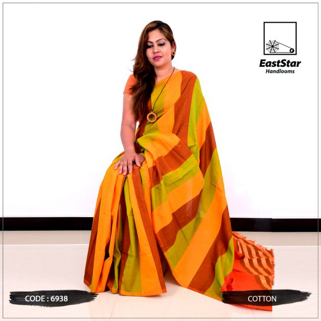 Code #6938 Handloom Cotton Saree
