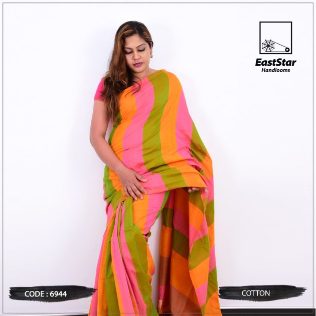Code #6944 Handloom Cotton Saree