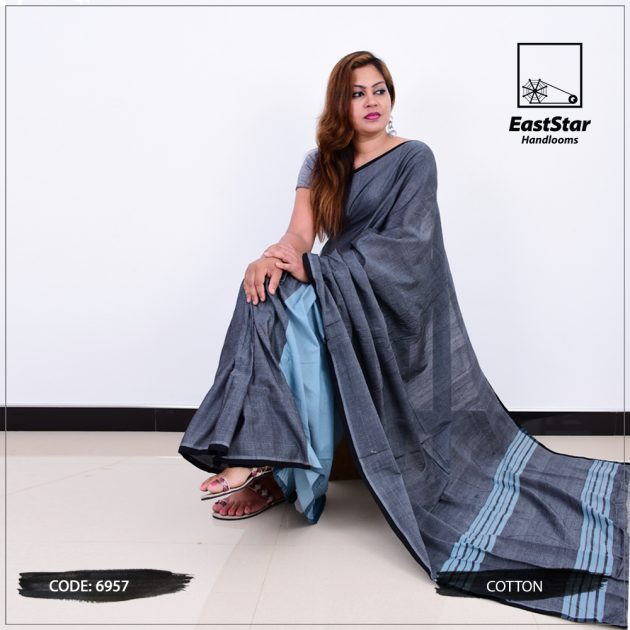 Code #6957 Handloom Cotton Saree