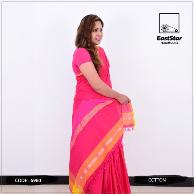 Code #6960 Handloom Cotton Saree