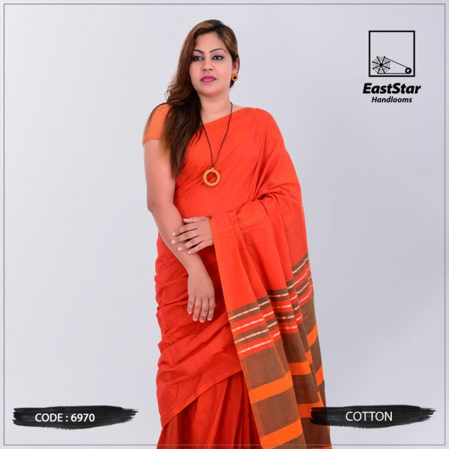 Code #6970 Handloom Cotton Saree