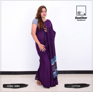 Code #6983 Handloom Cotton Saree