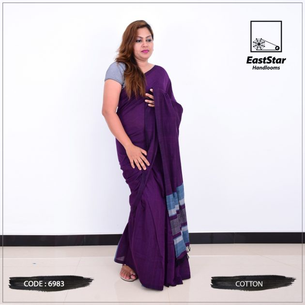Code #6983 Handloom Cotton Saree