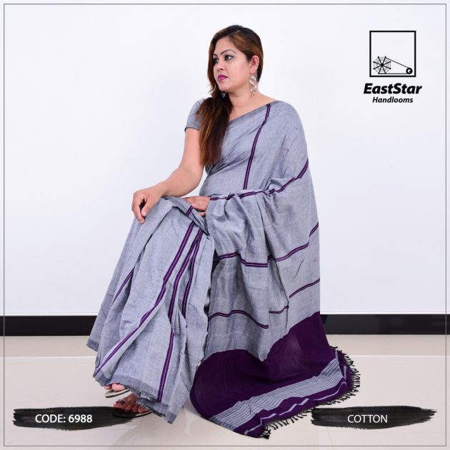 Code #6988 Handloom Cotton Saree
