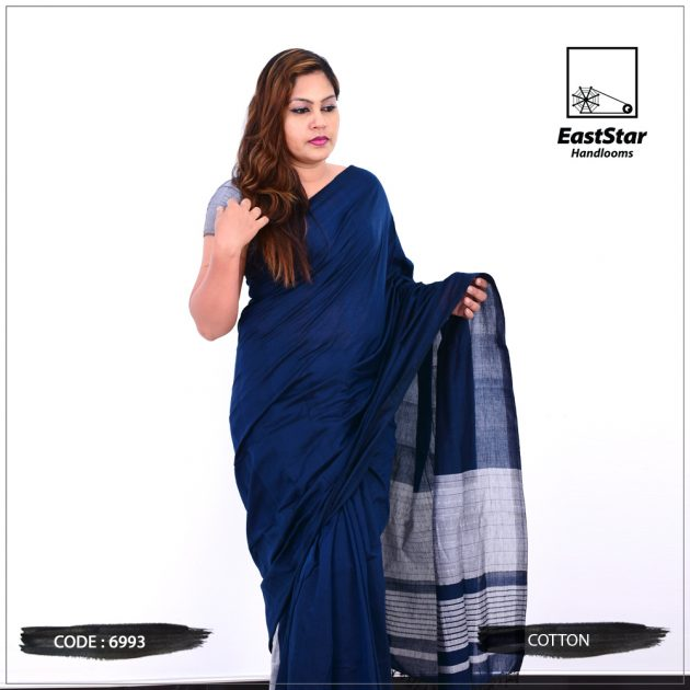 Code #6993 Handloom Cotton Saree