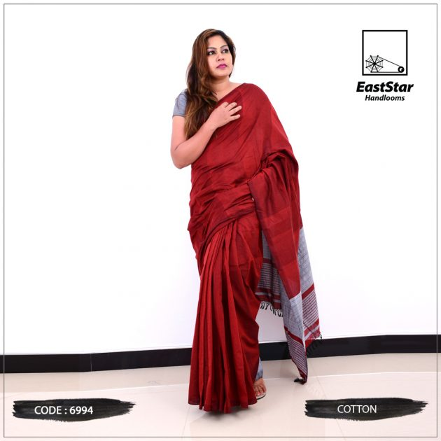 Code #6994 Handloom Cotton Saree