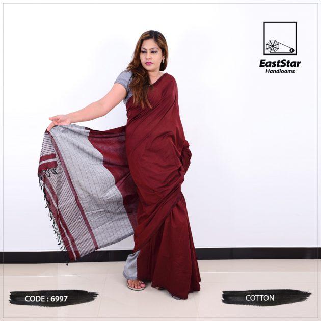 Code #6997 Handloom Cotton Saree