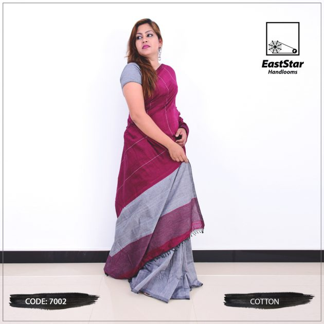 Code #7002 Handloom Cotton Saree