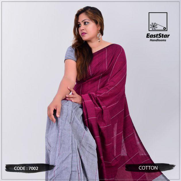 Code #7002 Handloom Cotton Saree