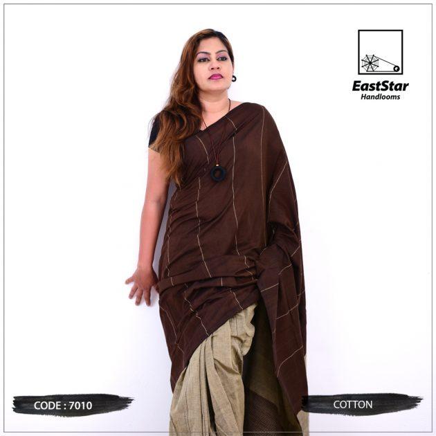 Code #7010 Handloom Cotton Saree