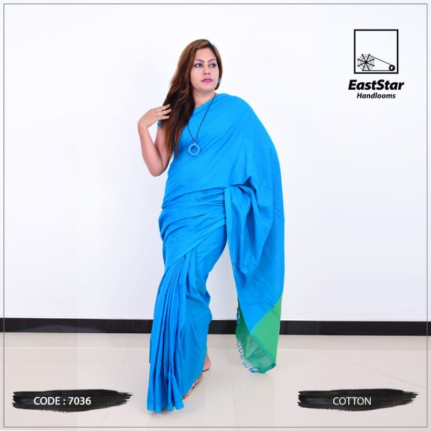 Code #7036 Handloom Cotton Saree
