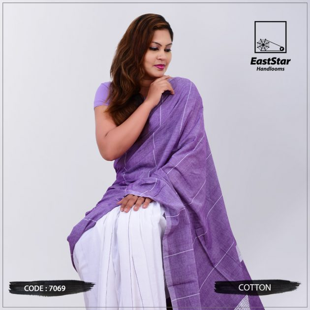 Code #7069 Handloom Cotton Saree