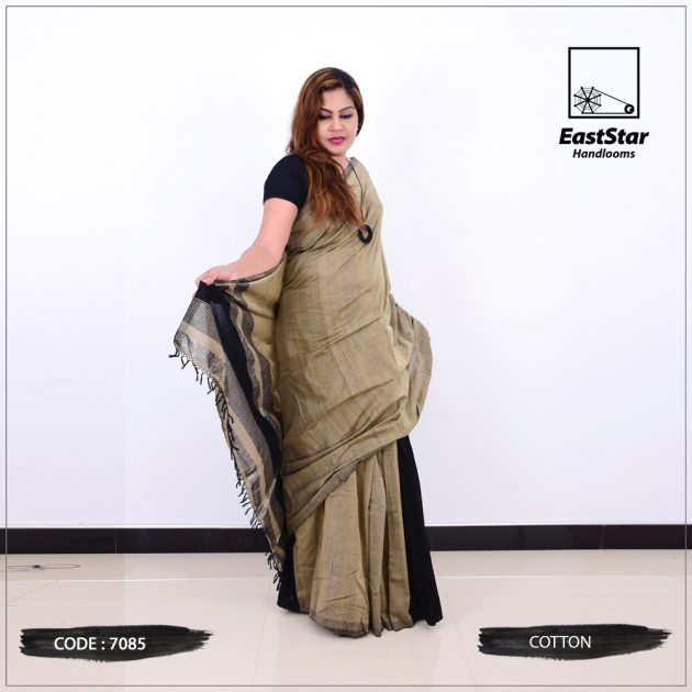Code #7085 Handloom Cotton Saree