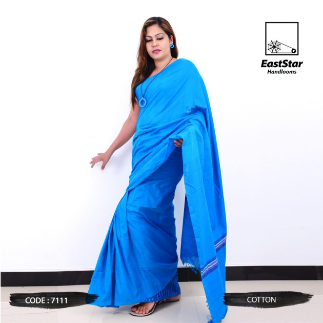 Code #7111 Handloom Cotton Saree
