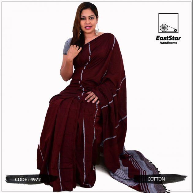 Code #4972 Handloom Cotton Saree