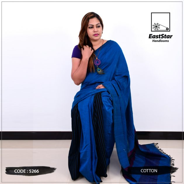 Code #5266 Handloom Cotton saree