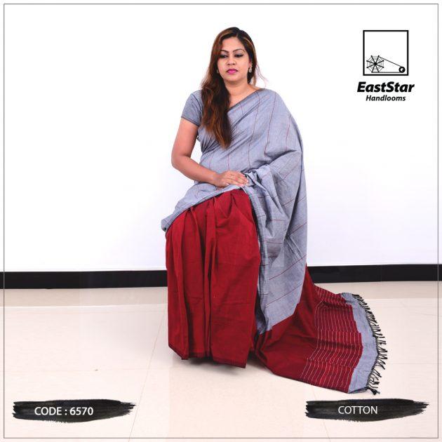 Code #6570 Handloom Cotton Saree