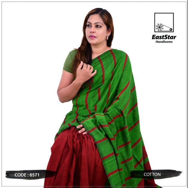 Code #6571 Handloom Cotton Saree