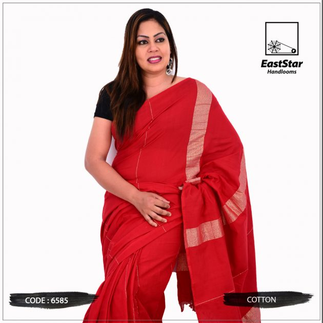 Code #6585 Handloom Cotton Saree