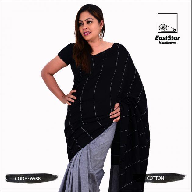 Code #6588 Handloom Cotton Saree